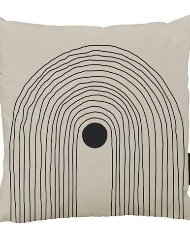 Béžovo-čierny bavlnený dekoratívny vankúš Butter Kings Setting, 50 x 50 cm