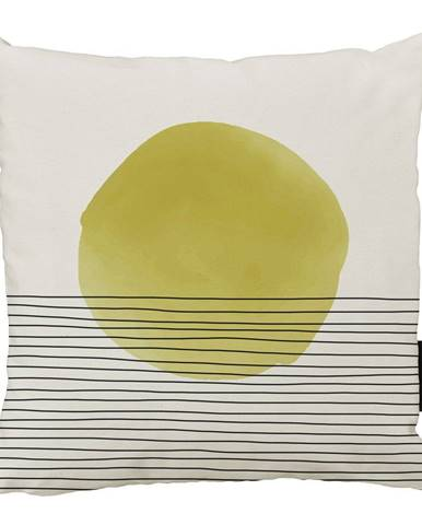 Béžovo-žltý bavlnený dekoratívny vankúš Butter Kings Rising, 50 x 50 cm