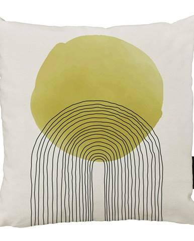 Béžovo-žltý bavlnený dekoratívny vankúš Butter Kings Rising Sun, 50 x 50 cm