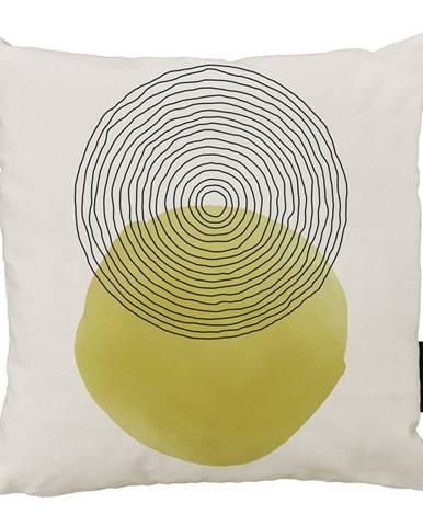 Béžovo-žltý bavlnený dekoratívny vankúš Butter Kings Rising Sunny, 50 x 50 cm