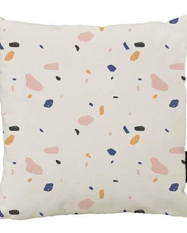 Béžový bavlnený dekoratívny vankúš Butter Kings Terrazzo Shapes, 50 x 50 cm
