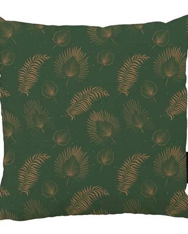 Zelený bavlnený dekoratívny vankúš Butter Kings Boho Leaves, 50 x 50 cm