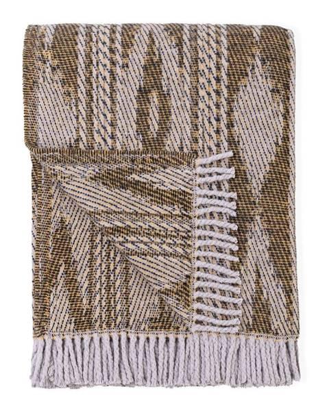 Euromant Svetlohnedý pléd s podielom bavlny Euromant Zanzibar, 140 x 180 cm