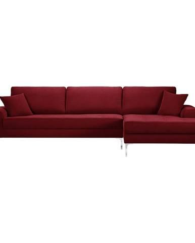 Červená rohová pohovka Prêt à Meubler Classics Dilinger, pravý roh