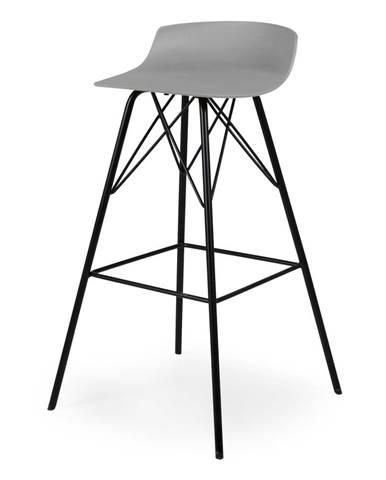 Sada 2 sivých barových stoličiek Tenzo Tori