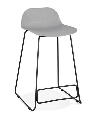 Sivá barová stolička Kokoon Slade, výška 85 cm