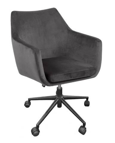Sivá kancelárska stolička Actona Nora