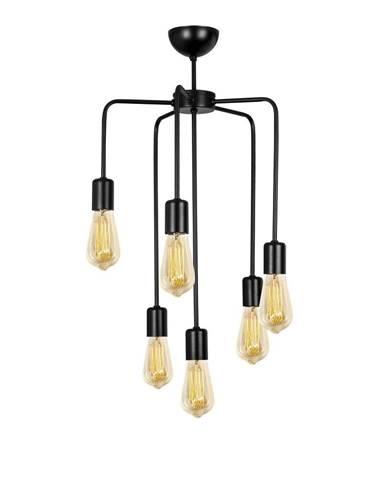 Čierne kovové závesné svietidlo Opviq lights Linos