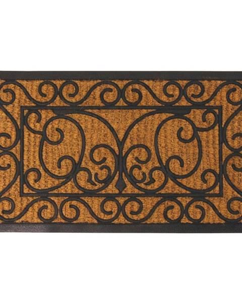 Esschert Design Gumová obdĺžníková rohožka s kokosovým vláknom Esschert Design Ornamental, 44,5x74,5cm