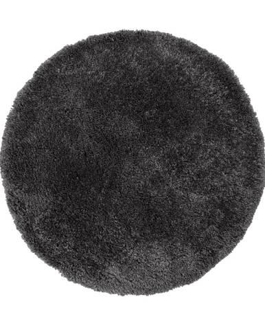 Antracitovosivý koberec Flair Rugs Sparks, ⌀ 133 cm