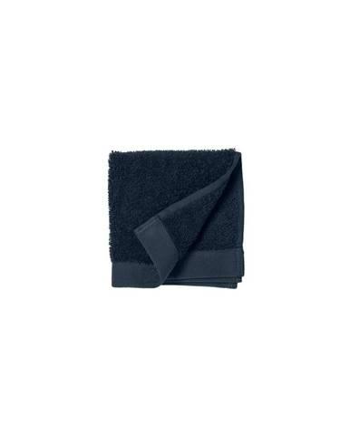 Modrý uterák z froté bavlny Södahl Indigo, 30 x 30 cm