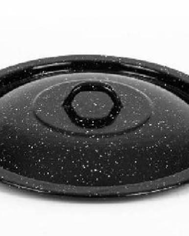 Pokrievka 36cm VP smalt čierna prskaná na 31,5L hrniec
