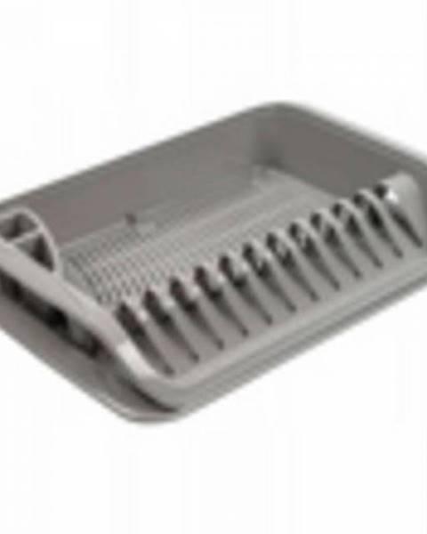 Kinekus Odkvapávač na riad, plastový, 39,5x39,5x8 cm, šedý