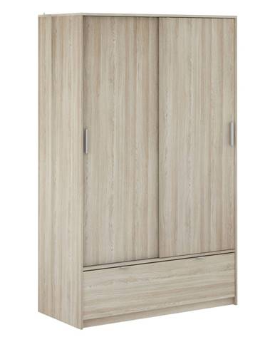 Skriňa s posuvnými dverami PERFECT dub