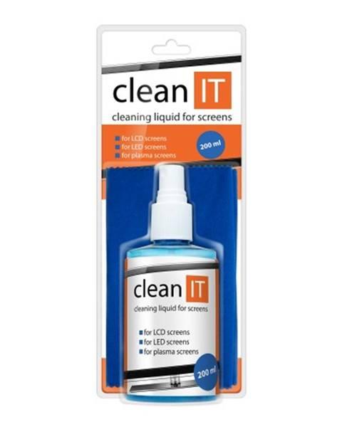 Clean IT Clean IT Čistiaci roztok na obrazovky s veľkou utierkou, 200ml