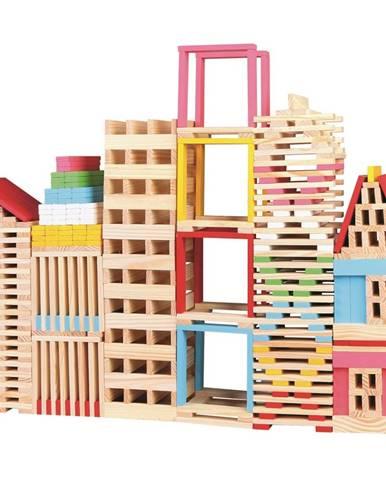 Mertens Drevená stavebnica Mesto, 150 dielikov