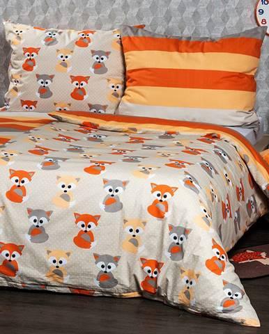 4Home Bavlnené obliečky Little Fox, 140 x 220 cm, 70 x 90 cm