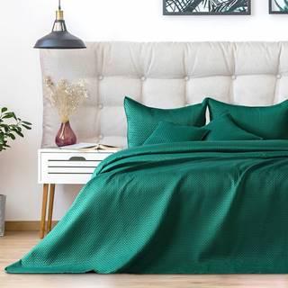 AmeliaHome Prehoz na posteľ Carmen alpinegreen, 220 x 240 cm