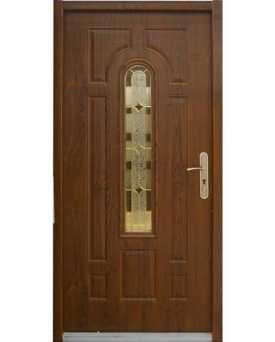 Dvere vchodové MX Eris 90L zlatý dub pp