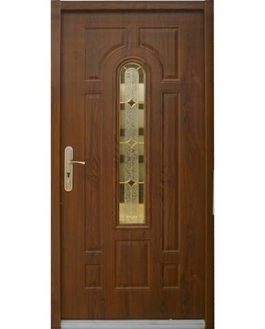Dvere vchodové MX Eris 90P zlatý dub pp