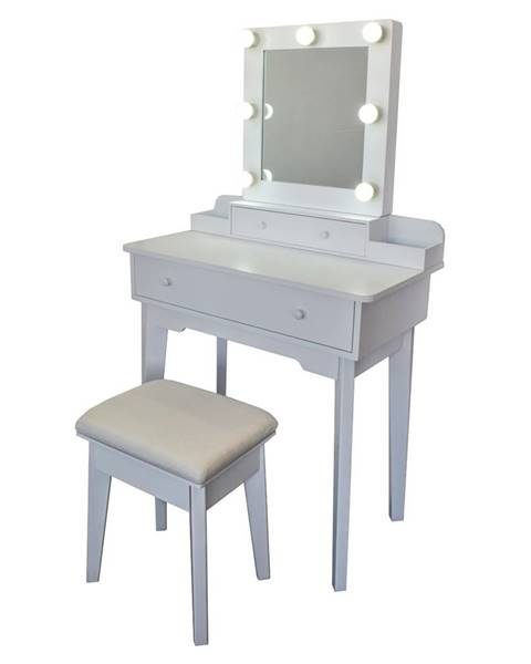 Albani Kozmetický stolík so zrkadlom Vanessa, 75 x 40 x 130 cm