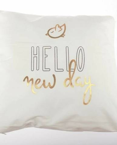 Dakls Obliečka na vankúšik Hello new day biela, 45 x 45 cm