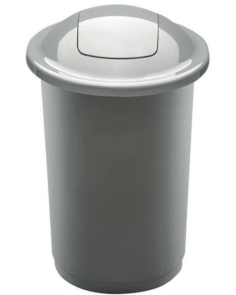 Altom Aldo Odpadkový kôš na triedený odpad Top Bin 50 l, strieborná