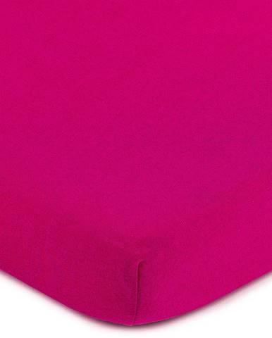 4Home jersey prestieradlo ružová, 90 x 200 cm