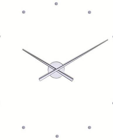 Nomon OJ nástenné hodiny, strieborná 50cm