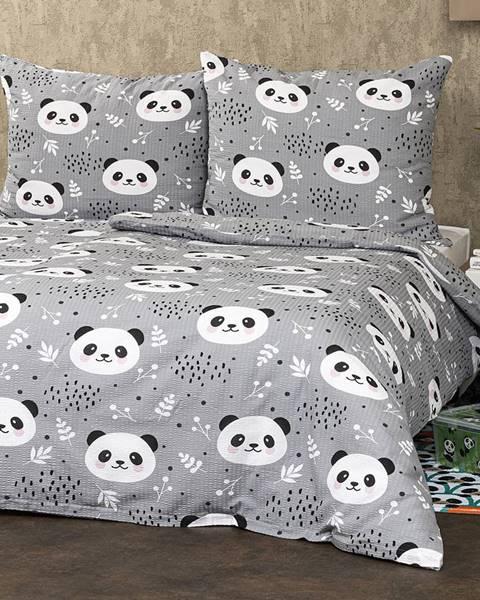 4Home 4Home Krepové obliečky Nordic Panda, 140 x 220 cm, 70 x 90 cm