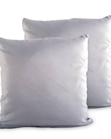 4Home Obliečka na vankúšik sivá, 2x 40 x 40 cm, 40 x 40 cm