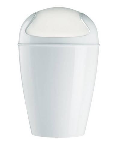 Koziol Stolný kôš s poklopom Dell XXS biela, 12,7 x 12,7 x 18,7 cm
