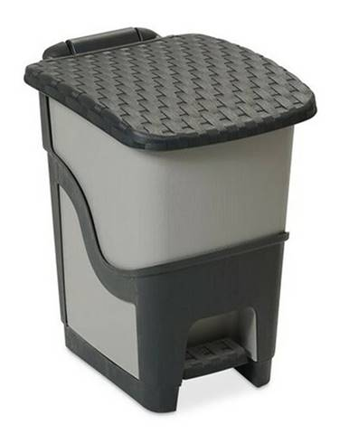 Ratanový odpadkový kôš 18 l, antracit