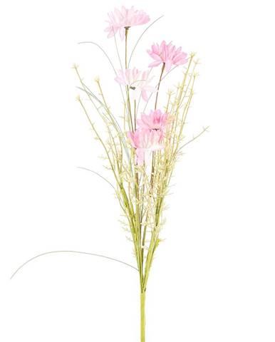 Umelé lúčne kvetiny 50 cm, ružová