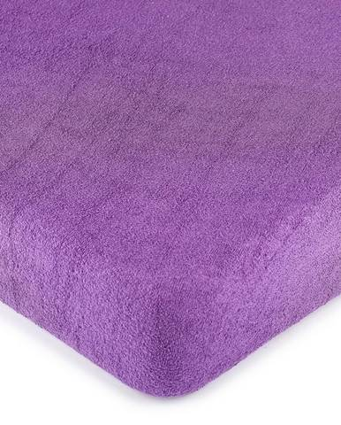 4Home froté prestieradlo fialová, 180 x 200 cm