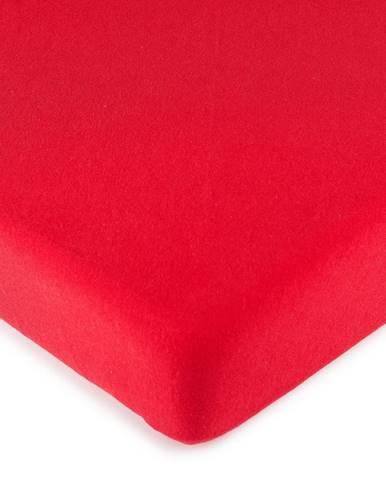 4Home jersey prestieradlo červená, 90 x 200 cm