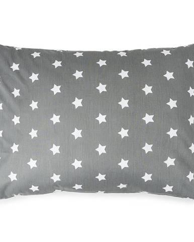 4Home Obliečka na vankúšik Stars sivá