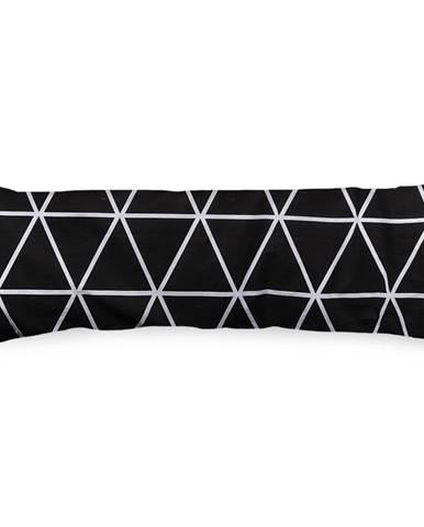 4Home Obliečka na Relaxačný vankúš Náhradný manžel Galaxy čiernobiela, 45 x 120 cm