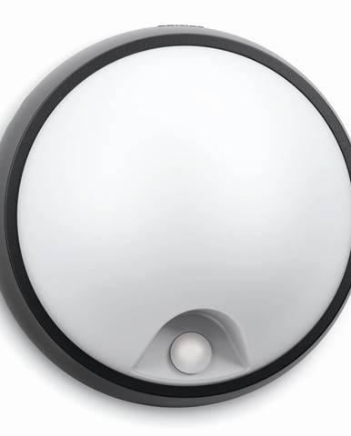 Philips 17318/30/16 Eagle Vonkajšie nástenné LED svietidlo s čidlom 17 cm, čierna