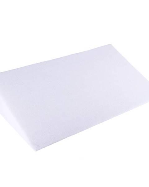 4Home Bellatex Biela obliečka - Klinový podhlavník, 80 x 50 x 20 cm