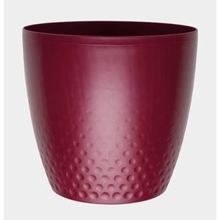 Plastový kvetináč Perla 16 cm, vínová, Plastia