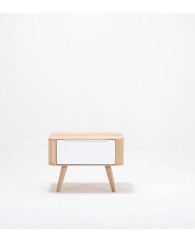 Nočný stolík z dubového dreva Gazzda Ena Two, 55×42×40 cm