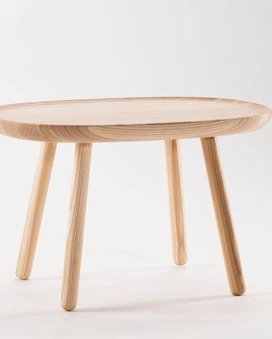 Prírodný odkladací stolík z masívu EMKO Naïve, 61 x 41 cm
