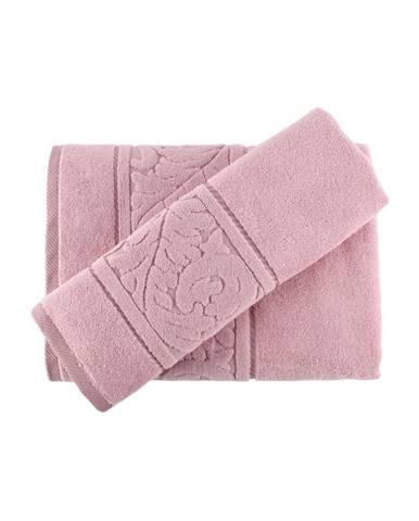 Sada ružového uteráku a osušky Sultan