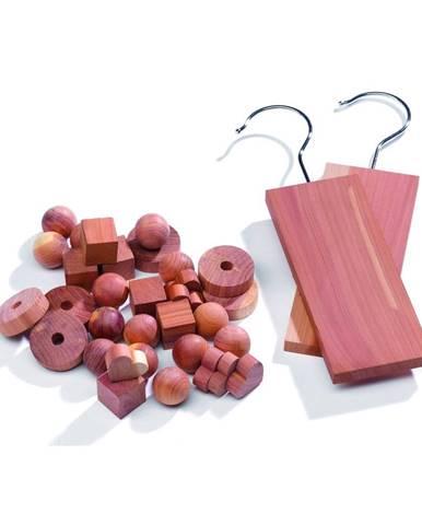 Set 34 doplnkov do šatníkovej skrine z cédrového dreva Compactor