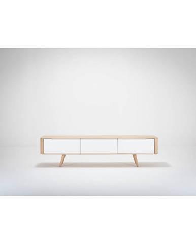 Televízny stolík z dubového dreva Gazzda Ena, 180×55×45 cm