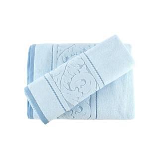 Sada modrého uteráku a osušky Sultan