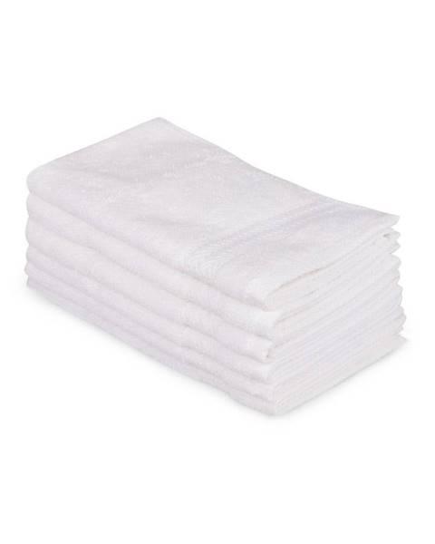 Hobby Súprava 6 bielych bavlnených uterákov Madame Coco Lento Puro, 30×50 cm