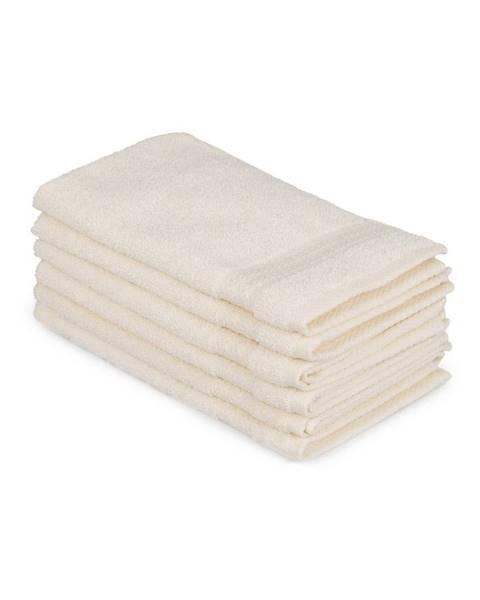 Hobby Sada 6 svetlokrémových bavlnených uterákov Madame Coco Lento Crema, 30×50cm