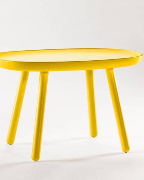 EMKO Žltý odkladací stolík z masívu EMKO Naïve, 61 x 41 cm